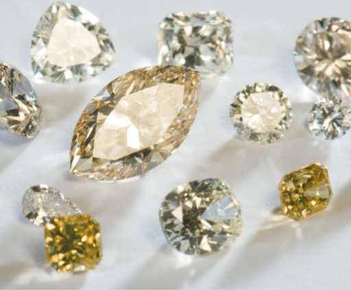 Cut and polished diamonds from the Star Diamond Project